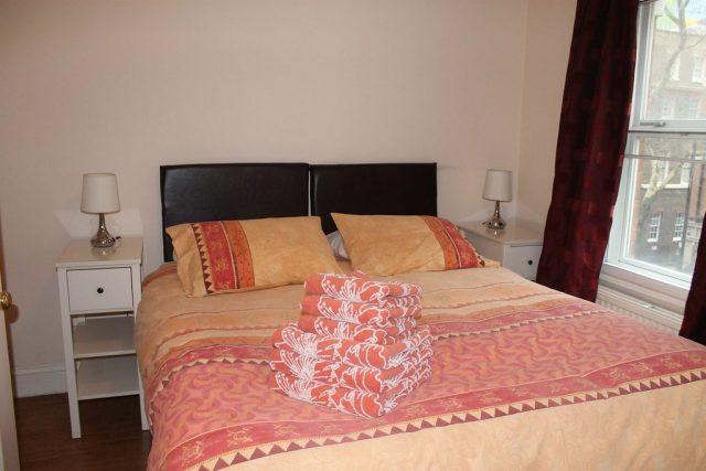 Dormitorio apartamento Londres