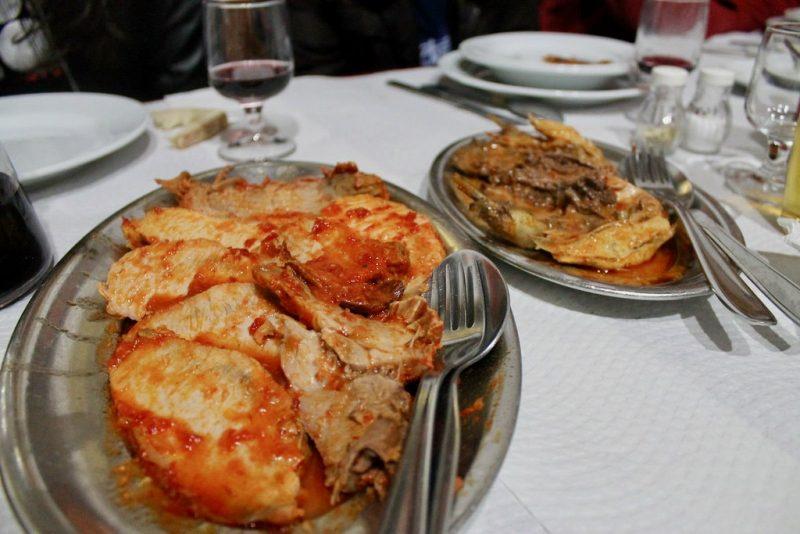 Lomo de cerdo al horno Adega Velha Mourao Portugal