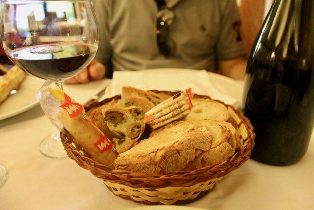 Pan y focaccia Ristorante Settimio Roma