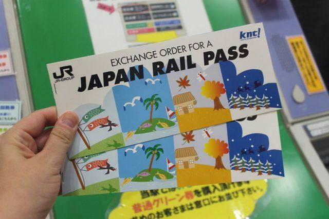 Resguardo del Japan Rail Pass