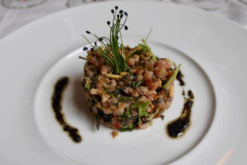Tartar de ternera con tapenade Restaurante L'Art de Vivre Spa Belgica