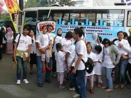 Dijemput shuttle bus IBCC
