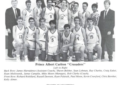 1989 Carlton Boys Highschool Basketball – Team
