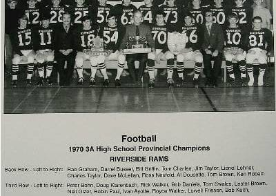 1970 Riverside Rams Football – Team