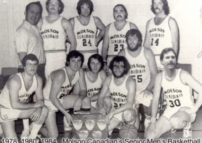 1978, 1980 and 1984 Molson Canadian Senior Men's Basketball – Team