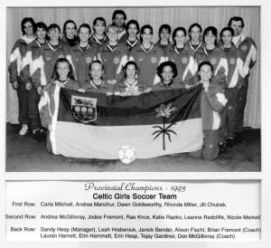 1993-1996 Prince Albert Celtic Girls Soccer – Team