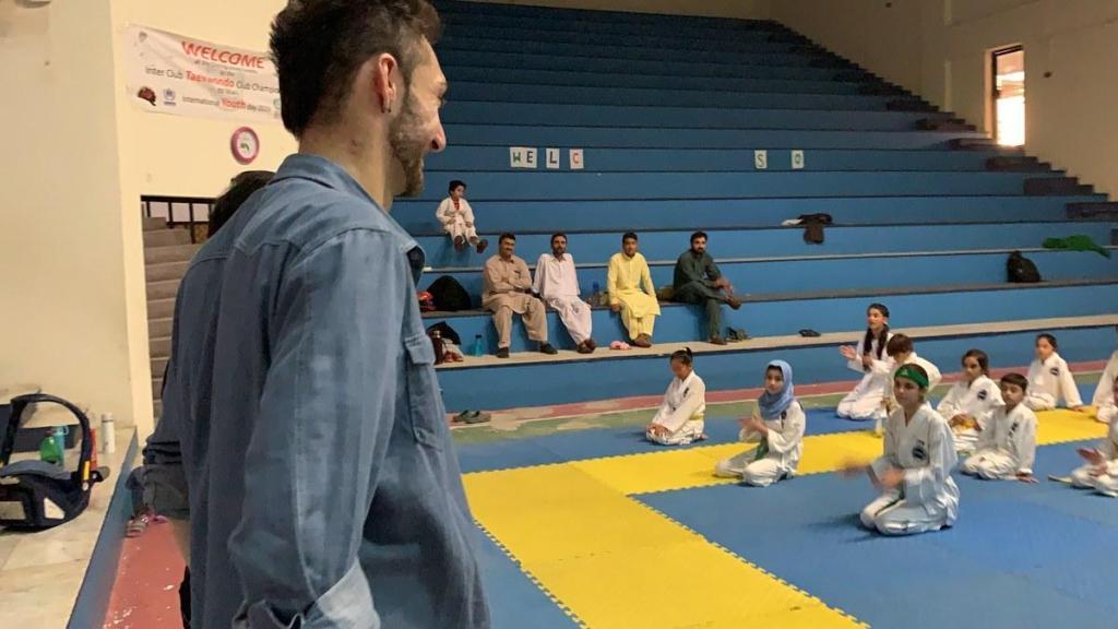 Mashood Alam at Taekwondo Peshawar