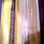 Empuñadura de la batuta de plata que la hermandad de la Caridad regaló a Luis Romero en 1950 (a Beigbeder le regalaron otra igual).