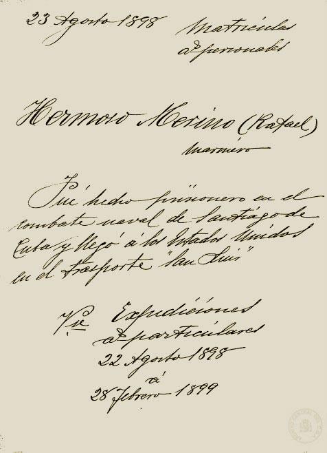 Expediente militar de Rafael Hermoso Merino. | Foto: Archivo Central del Cuartel General de la Armada