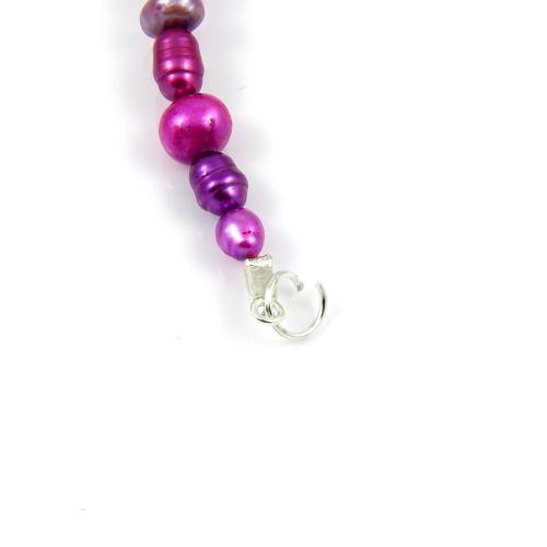 Naszyjnik Liliowe perły - krok 11
