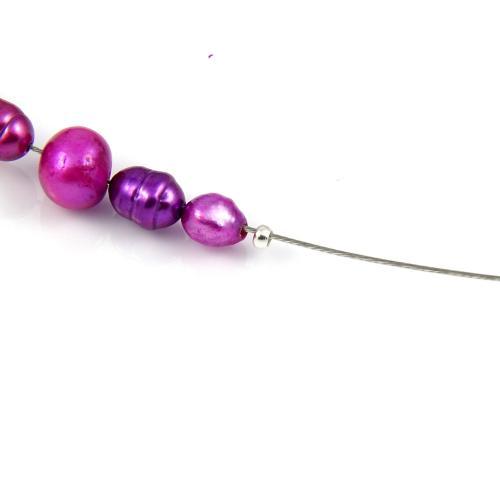 Naszyjnik Liliowe perły - krok 8
