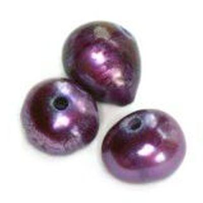 Perełki słodkowodne 4-5 mm śliwkowe 10szt.