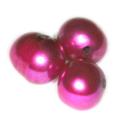 Perełki słodkowodne 6-7 mm różowe 10szt.