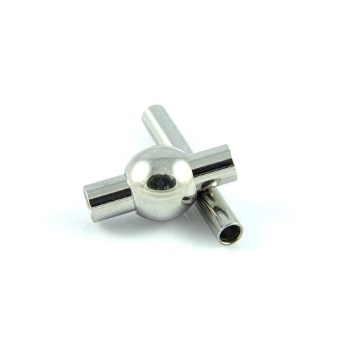 Stal chirurgiczna - Zapięcie magnetyczne 7.8 x 15.4 mm i Zapięcie 2.9 x 21.3 mm