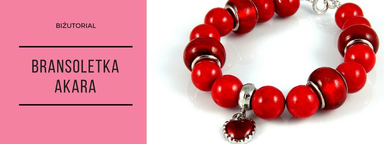 Biżutorial - Bransoletka Akara, kule marmurowe