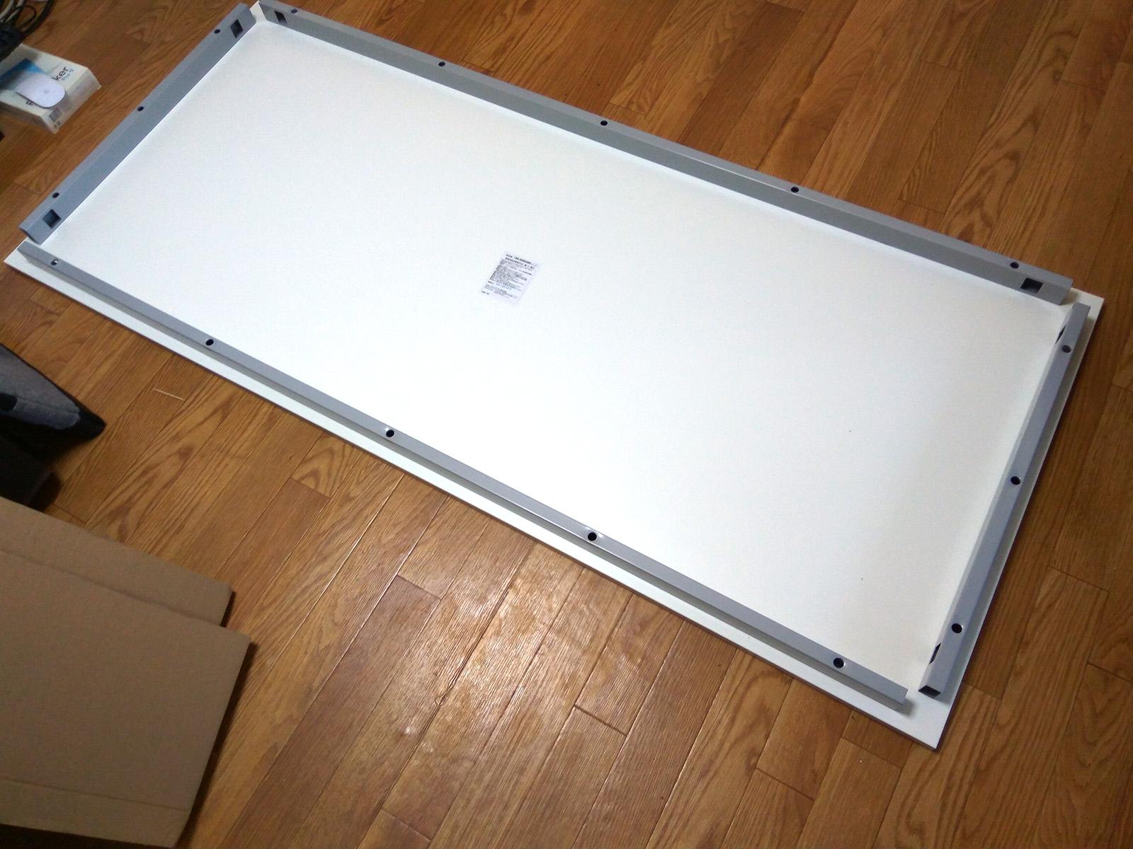 サンワサプライ パソコンデスク 100-DESK080W 組み立て 天板