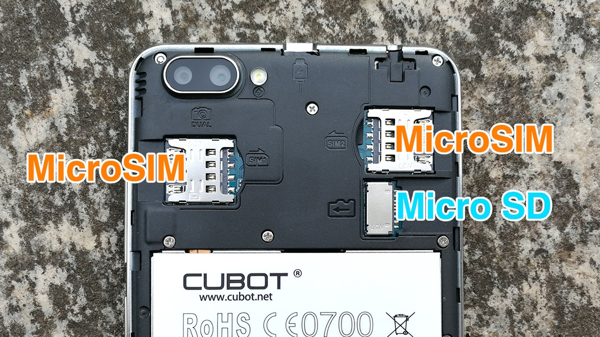 CUBOT Rainbow 2 内部構造