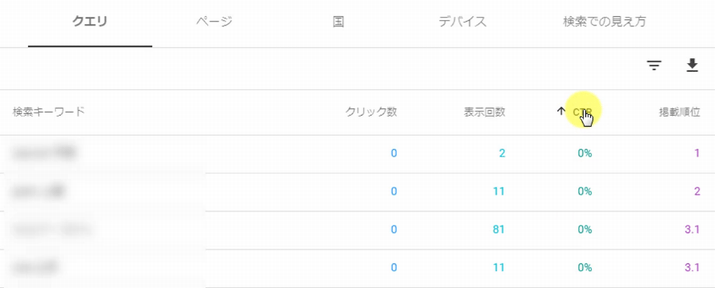 Search Console見方 検索パフォーマンス9