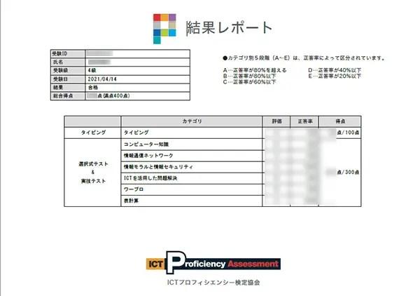 P検4級合格
