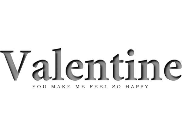 Valentine Text Type1/ バレンタイン