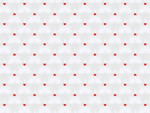 Heart Pattern White / ハートパターン(白)