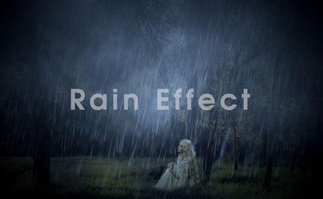 Photoshop 雨の表現 簡単チュートリアル!