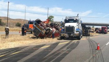 Man injured in Highway 101 tractor-trailer accident - Paso