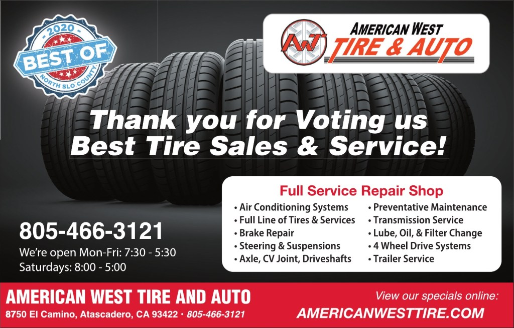Best Tire Sales & Service of North SLO County 2020
