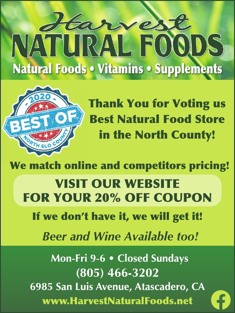 Harvest Natural Foods Best of 2020