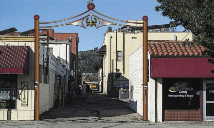 Arch Coming to Norma's Alley Entrance