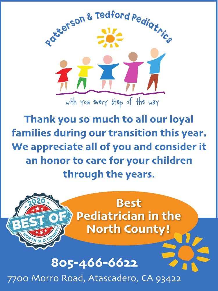 Best Pediatrician of North SLO County 2020