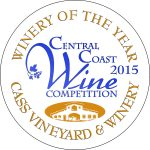 Central Coast Wine Competition Cass Winery of the Year 2015 award