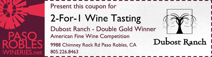 dubost ranch two for one wine tasting special
