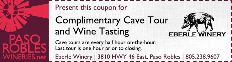 Eberle Winery Cave Tours Coupon