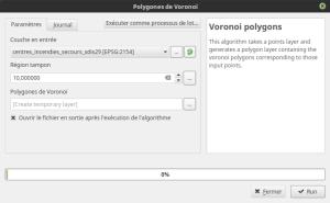 paramètres polygones de Voronoï