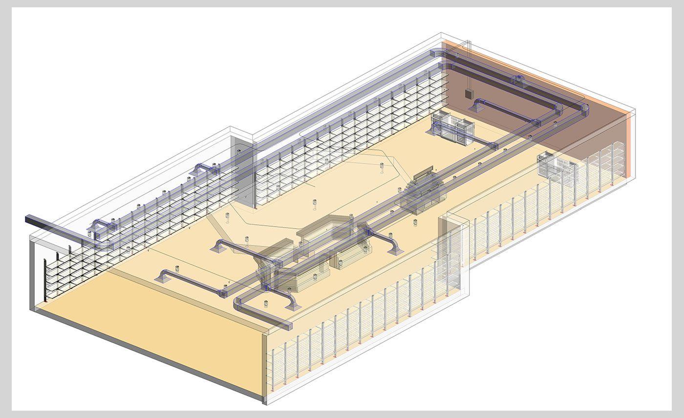 retail design - bim - 3d