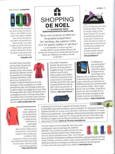 article shoping magazine escape noel