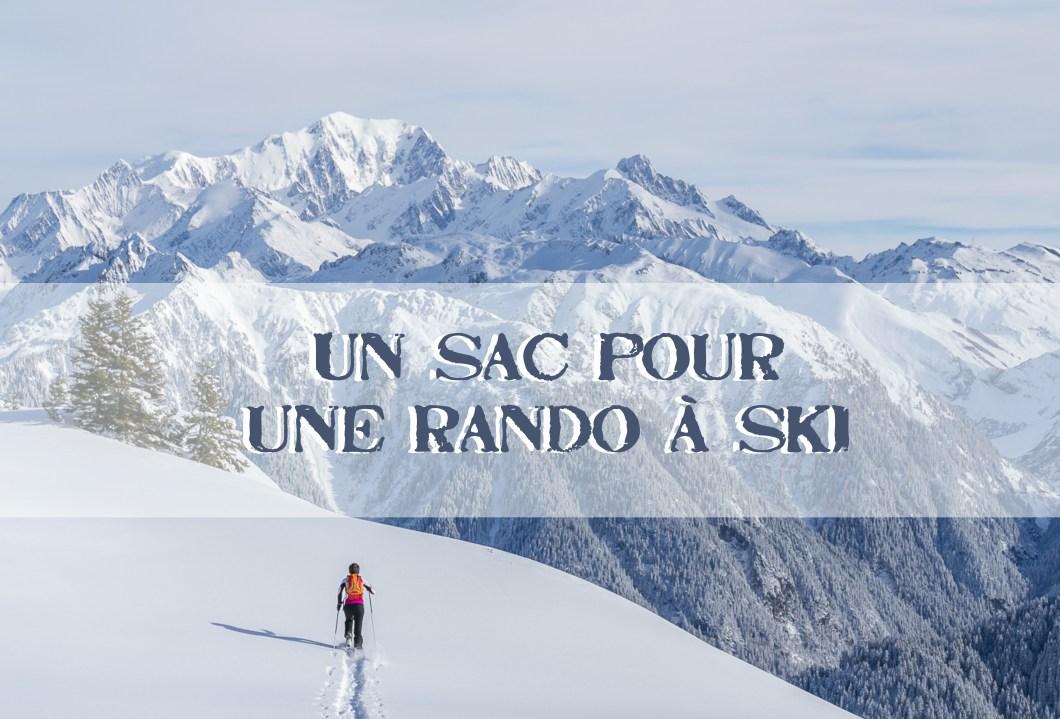 un sac pour une sortie en ski de randonnée / www.pasquedescollants.com