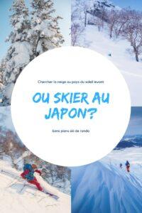 ou skier au japon en ski de randonnée