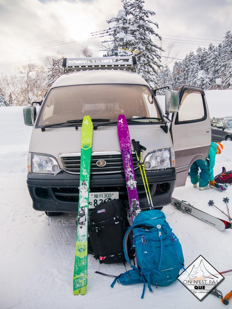 Un sac pour ... partir en voyage au Japon en ski de randonnée