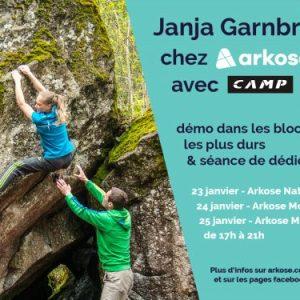 Ganga Garnbret à Paris janvier 2018 arkose camp