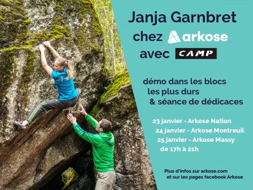 Janja Garnbret à Paris janvier 2018 arkose camp