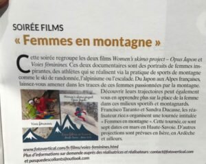 article La montagne et alpinisme Women's skimo project