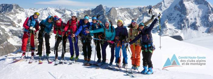 groupe d'alpinisme au féminin GAF74