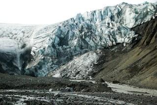 fonte d'un glacier