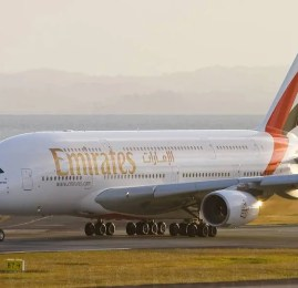 Emirates A380 no Brasil