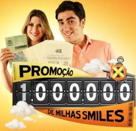 Smiles – Concorra à 1 milhão de milhas