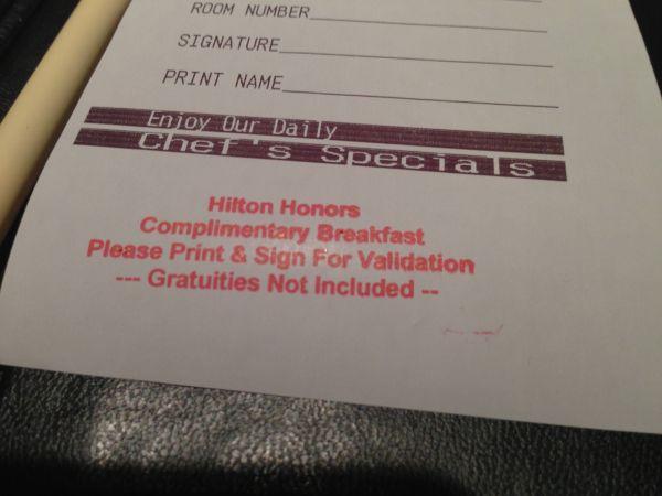 Breakfast DoubleTree Guest Suites