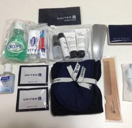 Kit de Amenidades da Primeira Classe da United Airlines