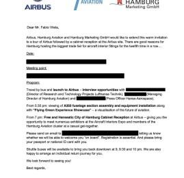O melhor convite de todos – Passageiro de Primeira na fábrica da Airbus e Aircraft Interiors Expo na Alemanha